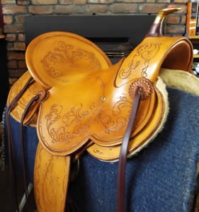 3B Visalia-style old-timer saddle with 5/8 rigging